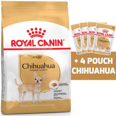 Royal Canin Chihuahua Adulto 1KG + 4 Royal Canin Chihuahua Adulto Pouch 85gr