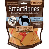 Smart Bones Medium 4PK - Con Mantequilla de Maní