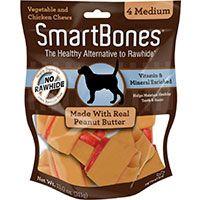 Smart Bones Medium 4PK - Con Mantequilla de Maní