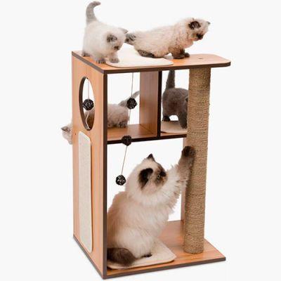Vesper Box Large Walnut Rascador para Gatos