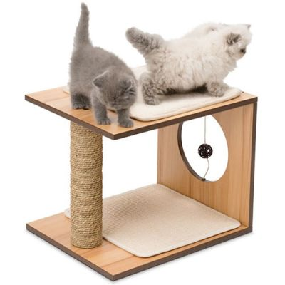 Vesper Sool Walnut Rascador para gatos