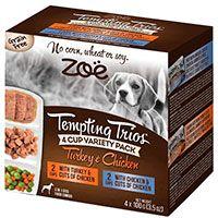Zoe Trios Dog Pack x 4 Pavo y Pollo