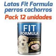Fit Formula Latas - Para Perros Cachorros - Pack 12 unidades