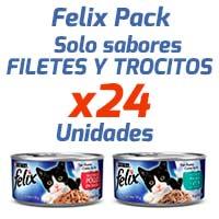 Felix en Latas - Filetes y Trozos - Pack 24 Unidades