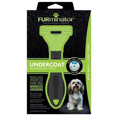 FURminator LONG HAIR deShedding Tools FOR DOG Small