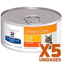 Hills Prescription Diet Latas Feline c/d Urinary Pack 5 Unidades