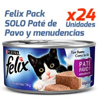 Felix en Latas - Solo Paté Pavo y Menudencias - Pack 24 unidades
