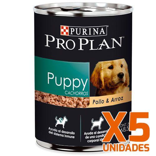 Purina Pro Plan Lata Perro Cachorro Pack 5 Unidades