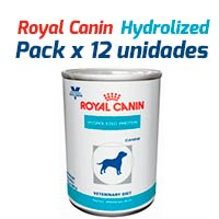Royal Canin Latas Vet Diet Canine Hydrolyzed Protein x 12 Unidades