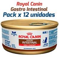 Royal Canin Latas Vet Diet Felino Gastro Intestinal High Energy x 12 Unidades