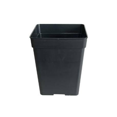 Maceta cuadrada plástico negro 7L
