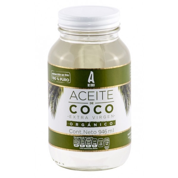 ACEITE DE COCO EXTRA VIRGEN ORGANICO 866 GRS