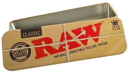 Caja metalica rolados  King Size Raw