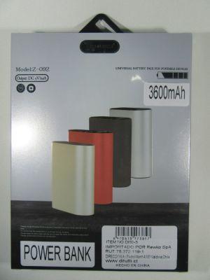 Batería portatil Techfuerza 3600 mah