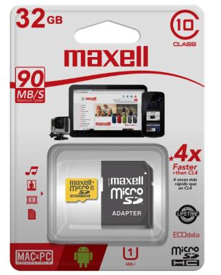 Tarjeta micro SD 32 GB Maxell Clase 10