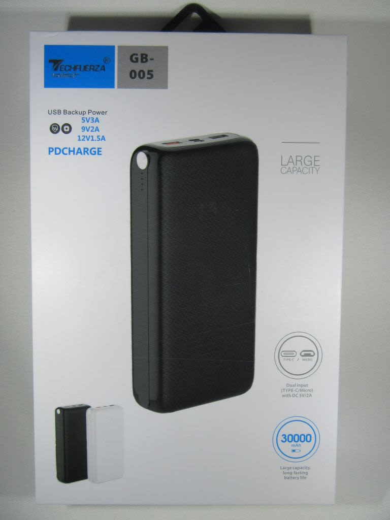 Batería portatil Techfuerza 30000 mah