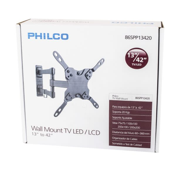 Soporte TV articulable Philco 23 a 55 pulgadas