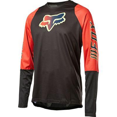 Jersey Defend Reno LS Foxhead QS Blk/Red1