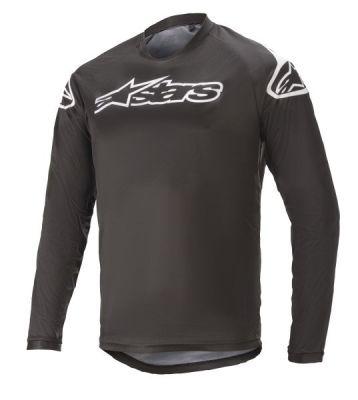 Jersey Bike Racer V2 LS Blk/Wht2