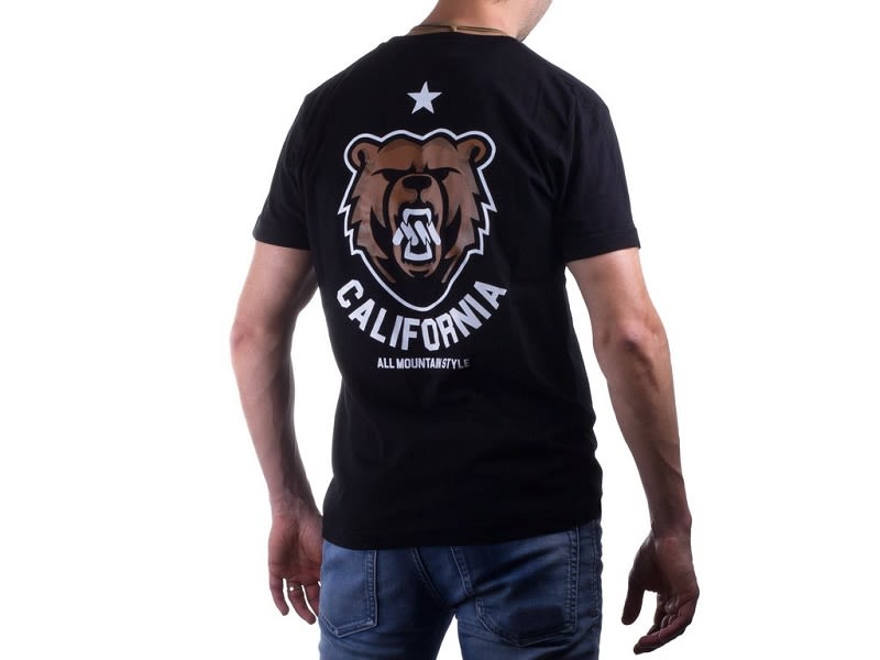 Polera California Bear Black