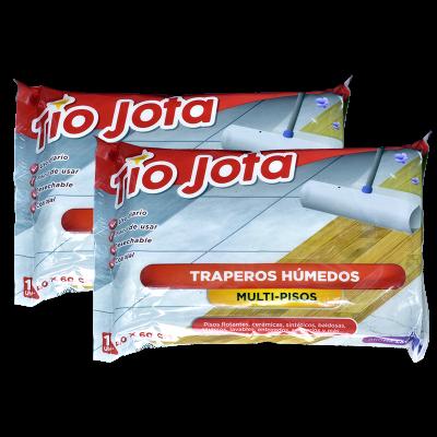 Pack 2x Trapero Humedo Tio Jota Multipisos 12un