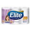 Papel Higiénico Elite Ultra Doble Hoja 50 m, Pack 12 rollos