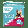 Paños Entrenamientos Mascotas Happy Dog 7 paños de 60x60