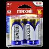 Pila Alcalina Maxell Alcalina Tamaño D 1,5V 2 unidades