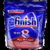 Detergente Lavavajillas Finish en Tabletas All in 1 Max 13 unidades