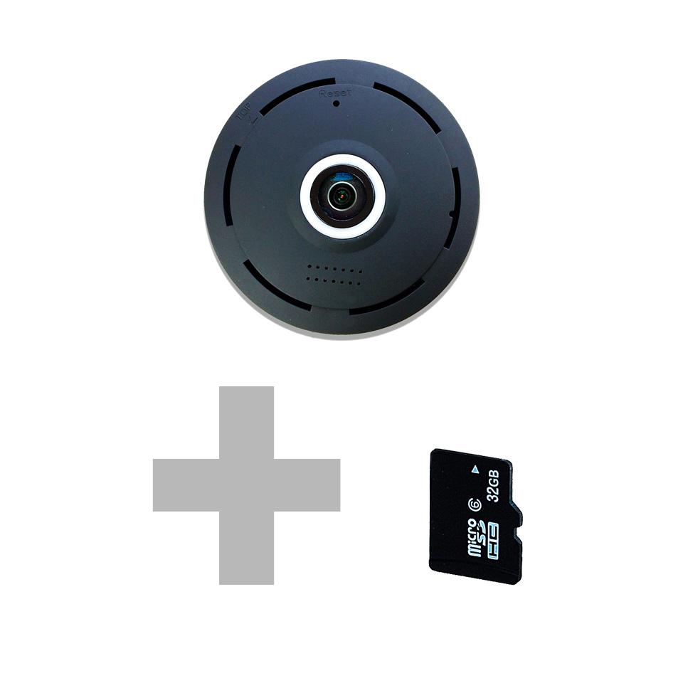 CÁMARA IP 360 NEGRA + SD 32 GB