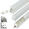 Perfil Aluminio Difusor TH-1002 2mt Esquinero Simple para Cinta Led