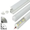 Perfil Aluminio Difusor TH-1002 3mt Esquinero Simple para Cinta Led