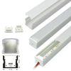 Perfil Aluminio Difusor TH-1202 2mt Alto 17,3x14,5mm Sobreponer para Cinta Led