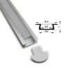 (*) Perfil Aluminio Difusor TH-1104b 3mt Plano Empotr.
