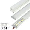 (*) Perfil Aluminio Difusor TH-1204 2mt Plano Empotrab