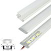 Perfil Aluminio Difusor TH-1204 2mt Plano Empotrab para Cinta Led