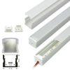 Perfil Aluminio Difusor TH-1202 3mt Alto 17,3x14,5mm Sobreponer para Cinta Led