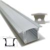 Perfil Aluminio Difusor TH-1201 3mt Alto Empotrable