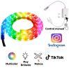 Cinta Led Luces Colores RGB 5 metros + Control Manual y Enchufe 220V TikTok