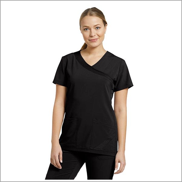 POLERA CLINICA WHITHECROSS FIT 748 NEGRO