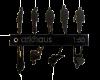 Silueta acrílica negra 1:50 ARKHAUS