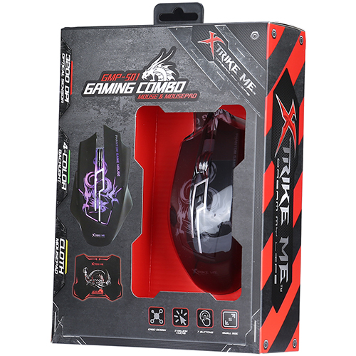 Kit Mouse Gamer + Mousepad XtrikeMe