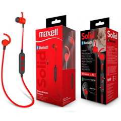 Audifonos Bluetooth Maxell Solid Red