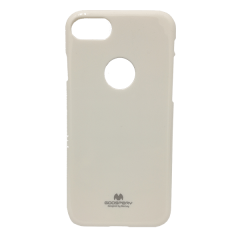 CASE IPHONE 7 JELLY PEARL WHITE (hole)