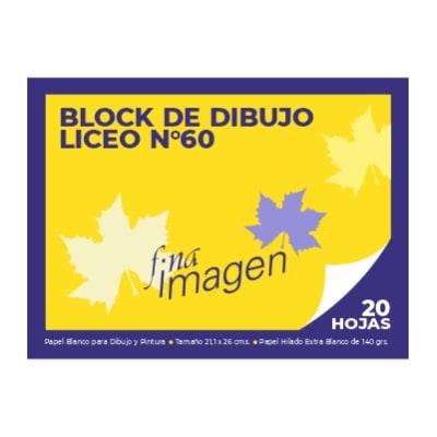 BLOCK DE DIBUJO FINA IMAGEN DIBUJO 60 LICEO1