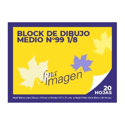 BLOCK DE DIBUJO FINA IMAGEN DIBUJO 99 MEDIO1
