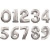 globo numero metalico
