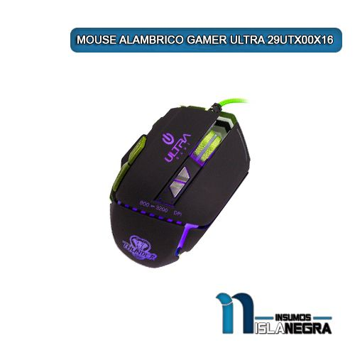 MOUSE ALAMBRICO GAMER ULTRA 29UTX00X16