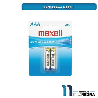 SET DE 2 PILAS AAA MAXELL