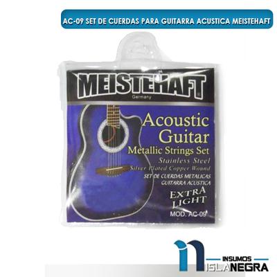 SET DE CUERDAS PARA GUITARRA ACUSTICA MEISTEHAFT